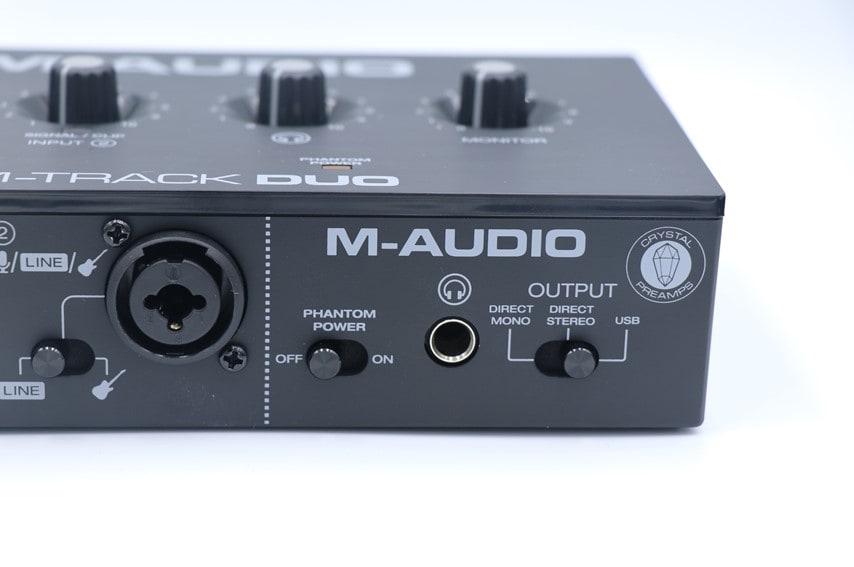 M-Audio M-Track DUOの前面右