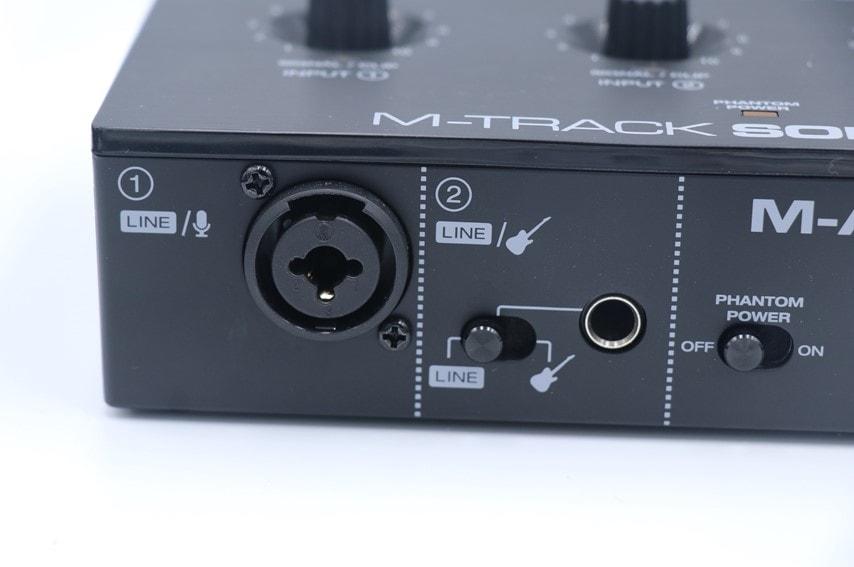 M-Audio M-Track soloの入力端子