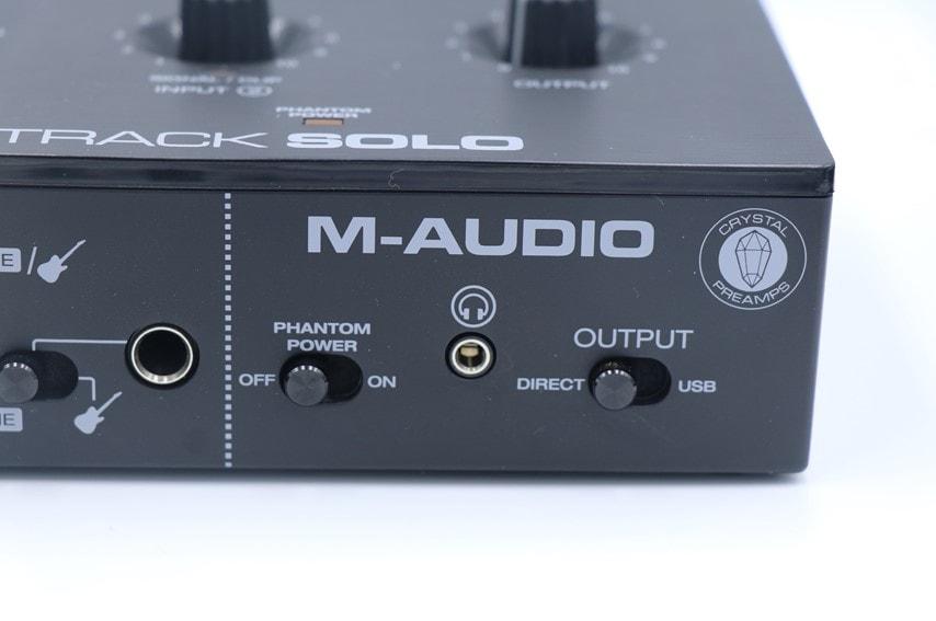 M-Audio M-Track soloの前面右