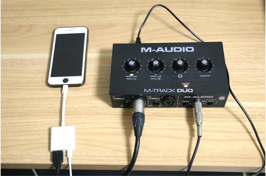 M-Audio M-Track DUOをiPhoneに接続