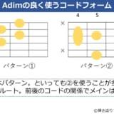 Adimコードのフォーム 2種類