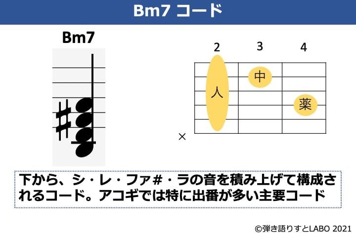 Bm7の構成音とギターコードフォーム