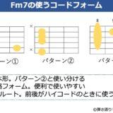 Fm7のコードフォーム 3種類