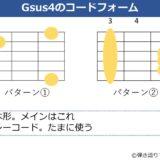 Gsus4のギターコードフォーム 2種類