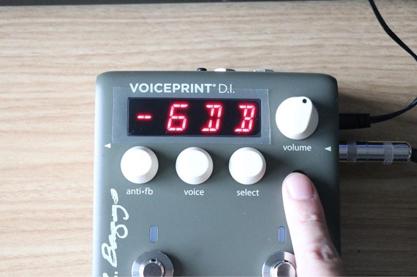 VOICEPRINTでPADスイッチを押して-6dbにした写真