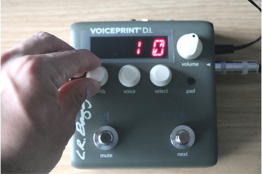VOICEPRINTで設定を変更するとディスプレイに表示されるのでわかりやすい