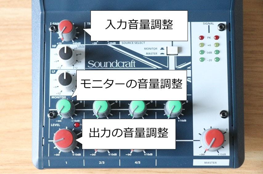 notepad-5の音量調整ツマミ