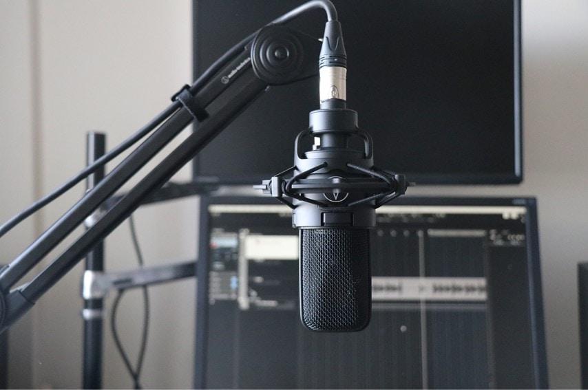 audio technica AT8700JでAT4040を取り付けした写真