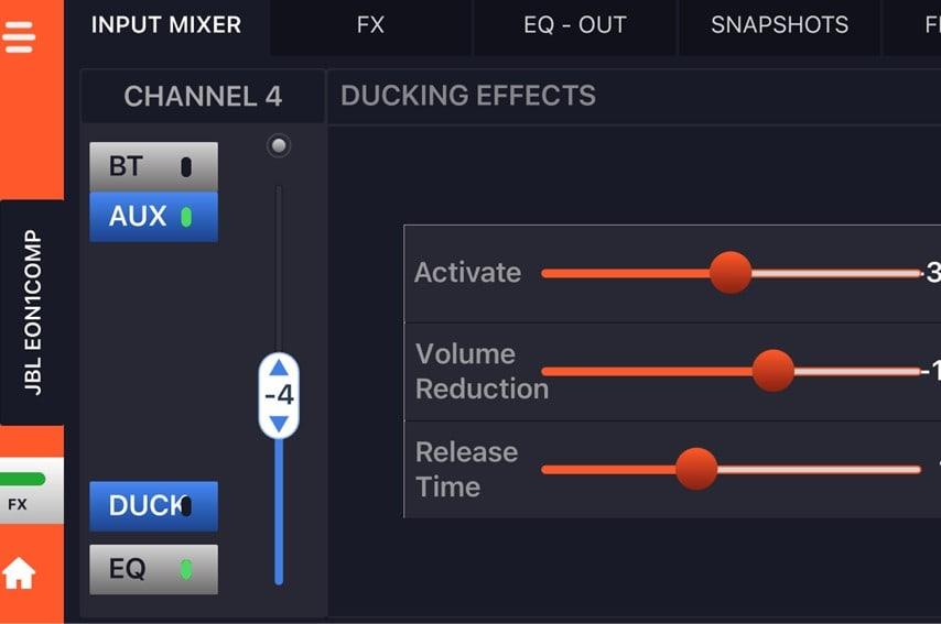 EON ONE CompactのDucking機能