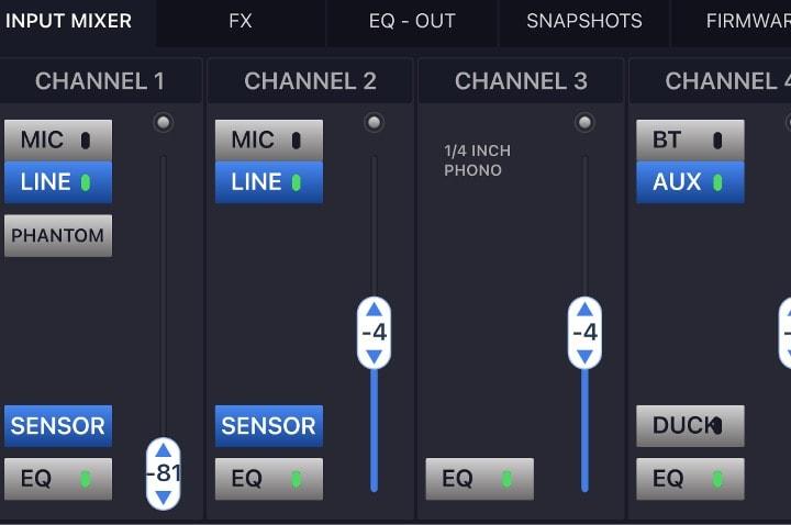EON ONE Compact iPhoneの専用アプリ画面