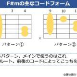 F#mの主なギターコードフォーム 2種類