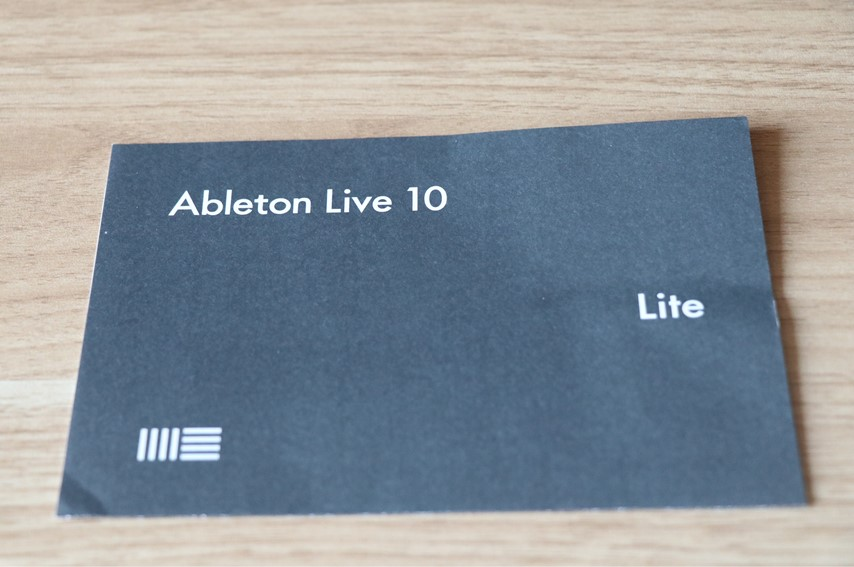 AKG Lyra-Y3付属のAbleton Liveの紙