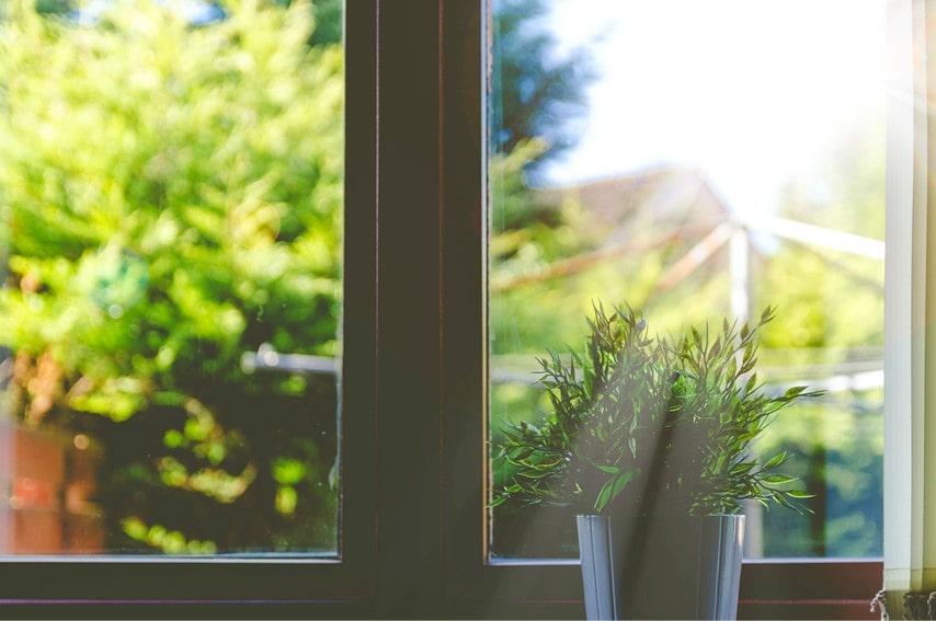 部屋の窓際