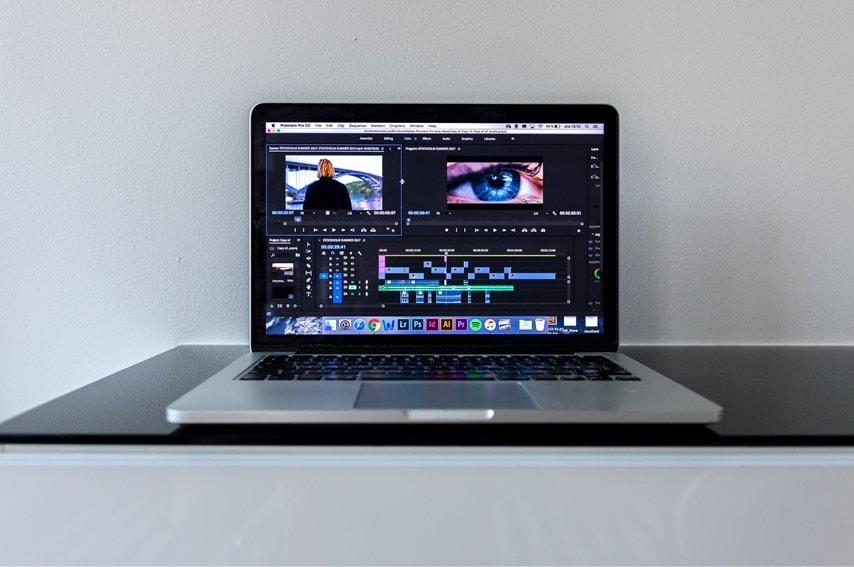 Adobe Premiere Proで編集している画面