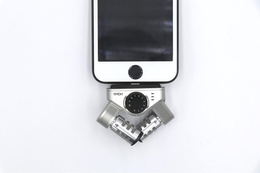 iPhoneにZOOM IQ6を取り付けした写真