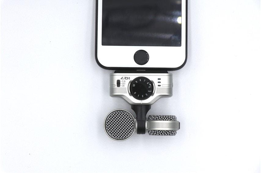 ZOOM iQ7をiPhoneに接続したところ
