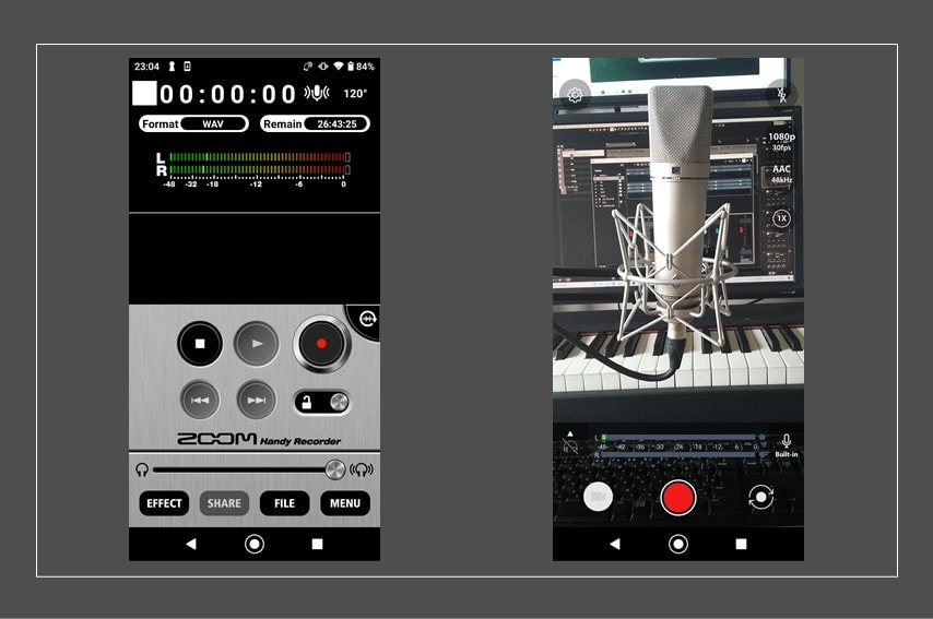 ZOOM Am7の専用アプリ2つ